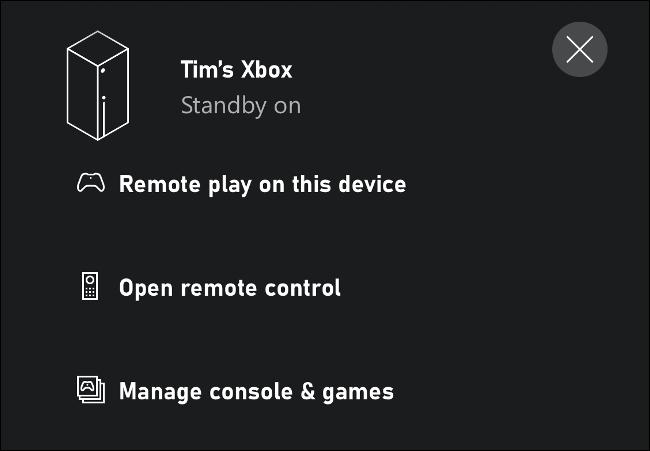 Reprodução remota neste Xbox via iPhone
