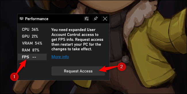 "Click ""FPS"" and click ""Request Access."""