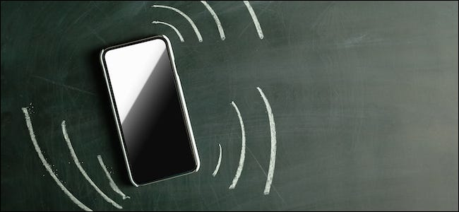 Smartphone vibrates with an incoming notification