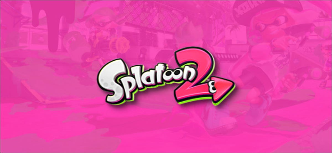 Nintendo Switch Splatoon 2 Logo on Pink Background