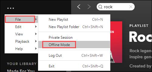 File > Offline Mode
