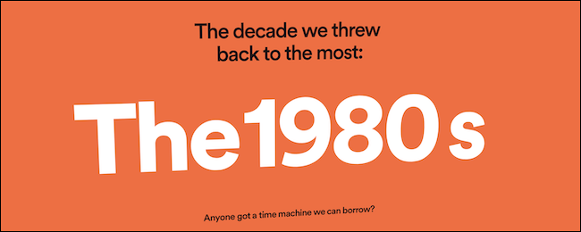 Spotify Wrapped 2020 top decade infographic