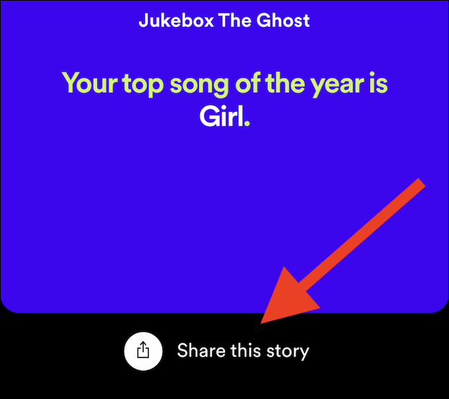 """Tap """"Share This Story"""" to share Spotify Wrapped 2020 infographics on social media"""