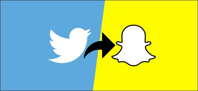 twitter and snapchat logos