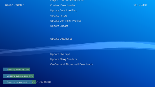 Updating RetroArch assets