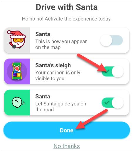abilitare l'unità con le funzionalità di Babbo Natale