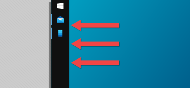 windows taskbar on the left side
