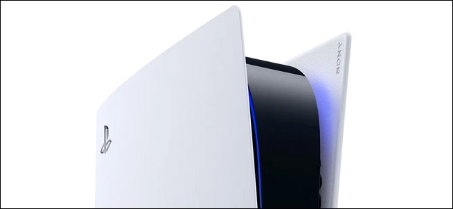 a ps5 powered on with its blue light glowing