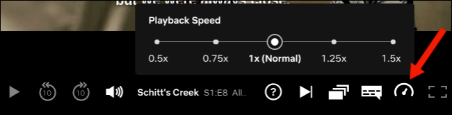 Adjust the playback speed on the Netflix website