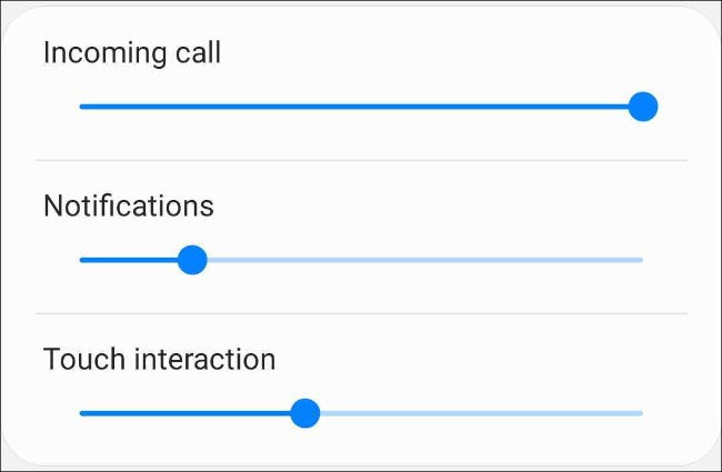 Adjust the vibration intensity on Samsung Android phone