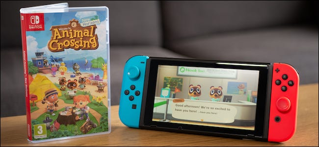 Animal Crossing: New Horizons game and a Nintendo Switch