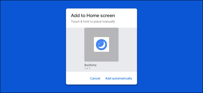 shortcut to the Google Assistant home screen