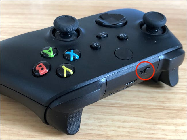 Xbox series controller pairing button