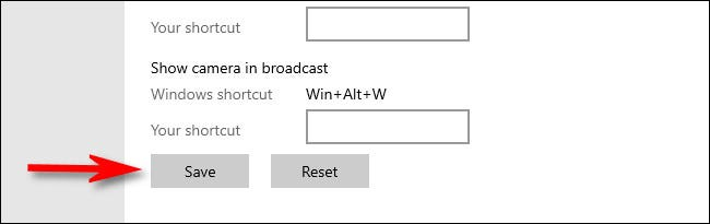 """In Windows Settings, click """"Save."""""""