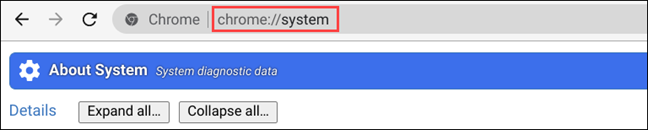 type the chrome system page in the URL bar