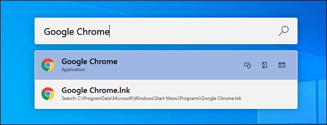 """Searching for """"Google Chrome"""" in PowerToys Run on Windows 10."""