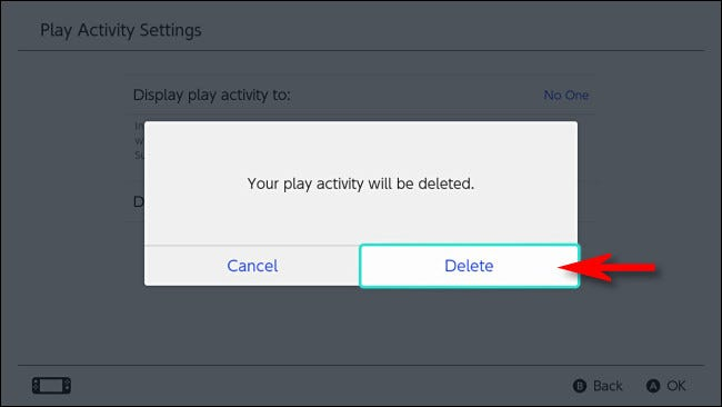 "Select ""Delete"" to confirm."