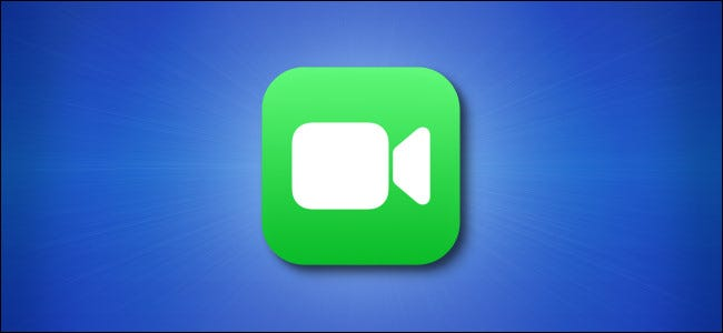 iOS FaceTime icon on blue background