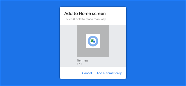 shortcut to the Google Assistant interpreter mode home screen