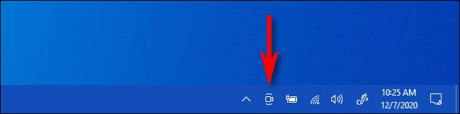 The Meet Now icon in the Windows 10 taskbar.