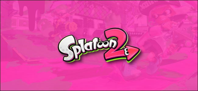 Nintendo Switch Splatoon 2 Logo on Pink Background
