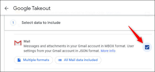 Click the check box to the right of Mail.