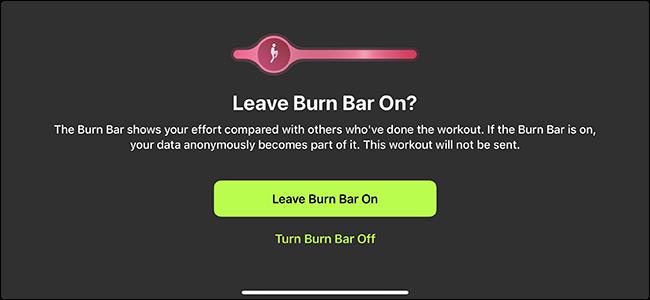 option to turn burn bar off