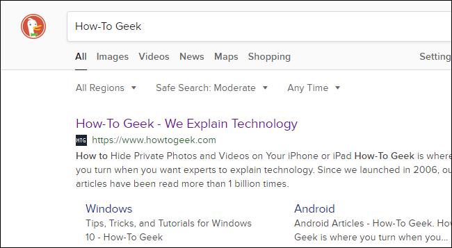 DuckDuckGo search results.