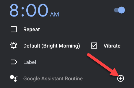 add a google assistant routine
