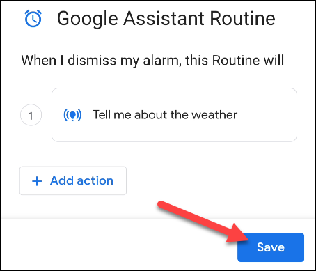 save the routine