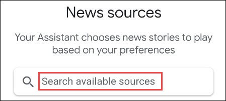 search for news sources