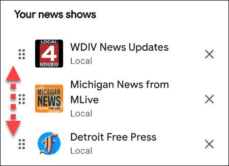 customize news order