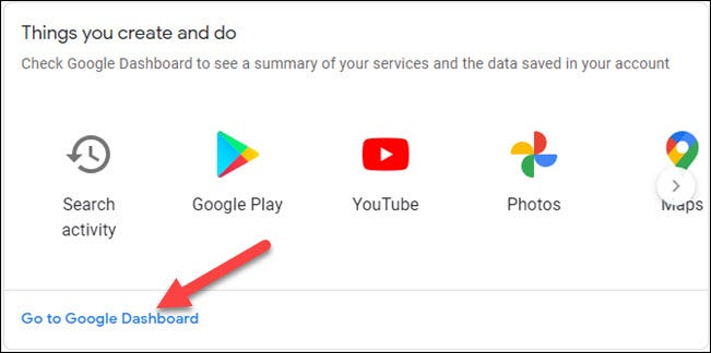 go to google dashboard