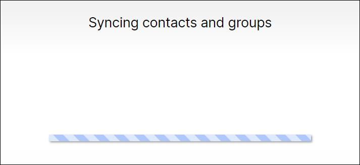 sincronizando contatos e grupos