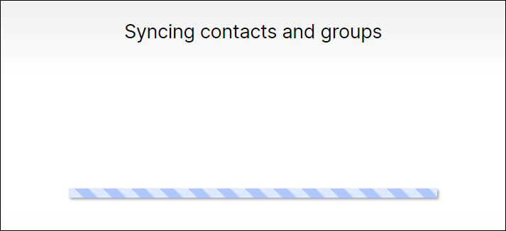 syncing contacts and groups