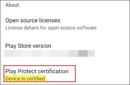 certification listing