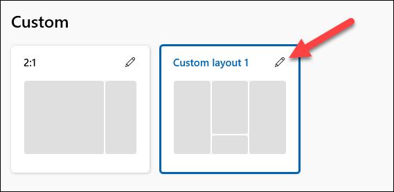 edit newly create layout