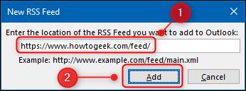 """В """"Новый RSS-канал"""" окно."""