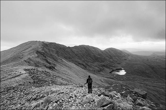 scottish mountain ridge
