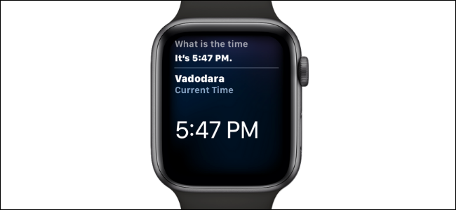 Asking Time to Apple Watch on Siri