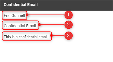 Body of the new email
