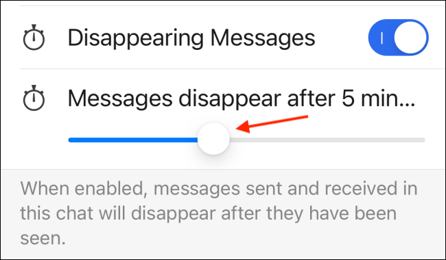 Change Timer for Disappearing Messages