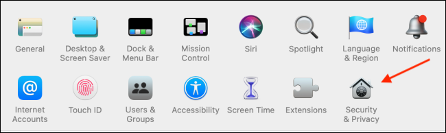 Click Security and Privacy from System Preferences