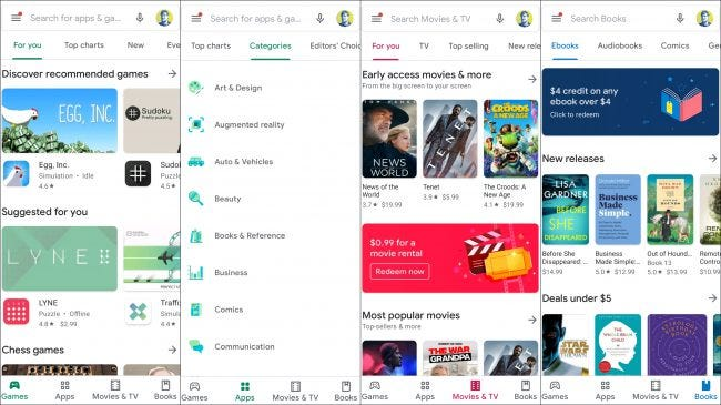 google play áruház mobilon