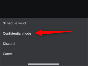 Confidential mode in gmail app