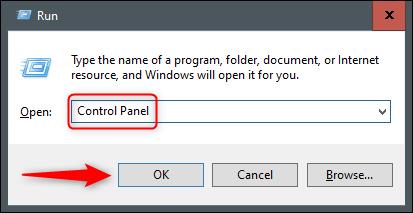 Control Panel Run command