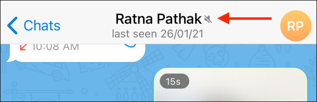 Conversation Muted in Telegram