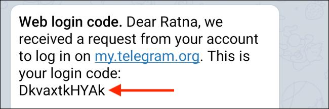 Copy Code from Telegram App