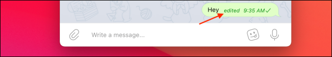 Edited Tag for Telegram on Mac