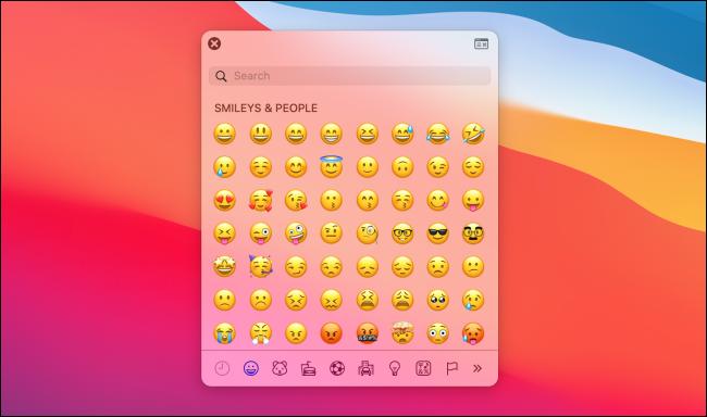 Emoji Picker on macOS Big Sur